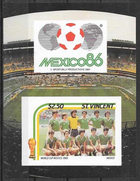 colección sellos Saint Vincent 1986 deporte
