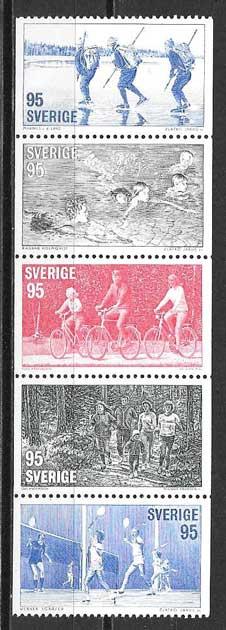 Filatelia deporte Suecia 1977