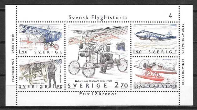 Sellos transporte Suecia 1984