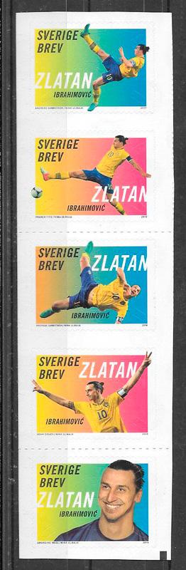 colección sellos deporte Suecia 2017