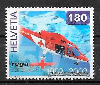 filatelia transporte Suiza 2002