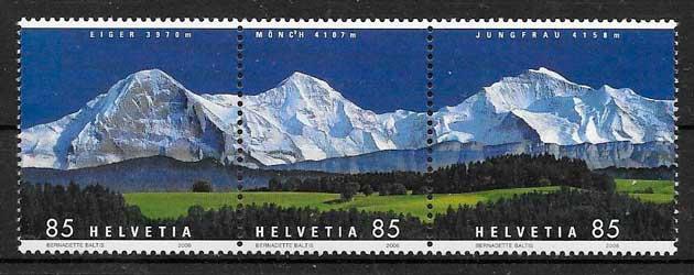 filatelia colección turismo Suiza 2006