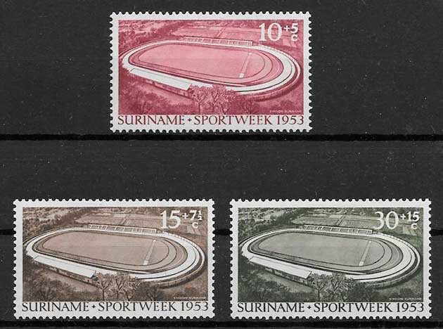 sellos deporte Surinam 1953