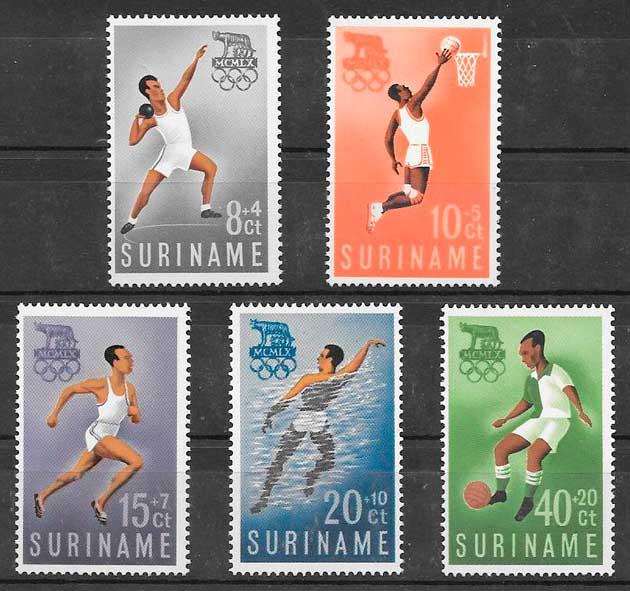 sellos deporte Surinam 1960