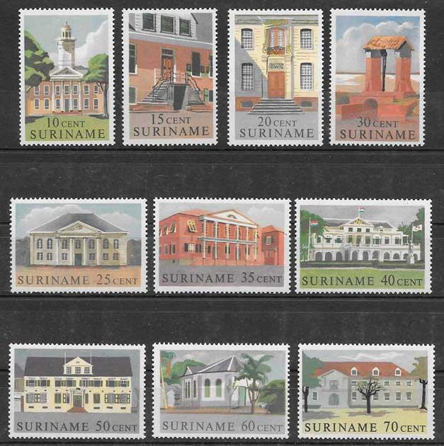 sellos arquitectura Surinam 1961