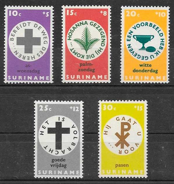 filatelia navidad Surinam 1968