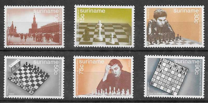 filatelia deporte Suriname 1984