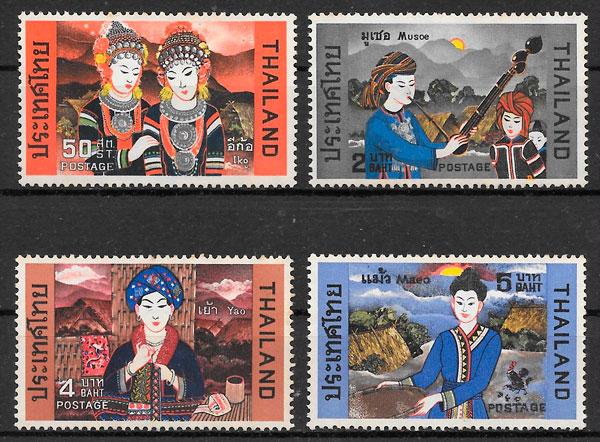 sellos arte Tailandia 1972