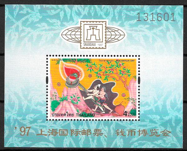 colección sellos arte Tailandia 1997