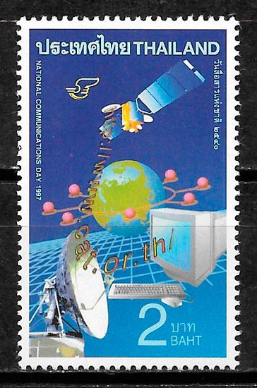 colección sellos espacio Tailandia 1997