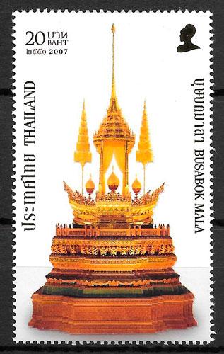colección sellos arte Tailandia 2007