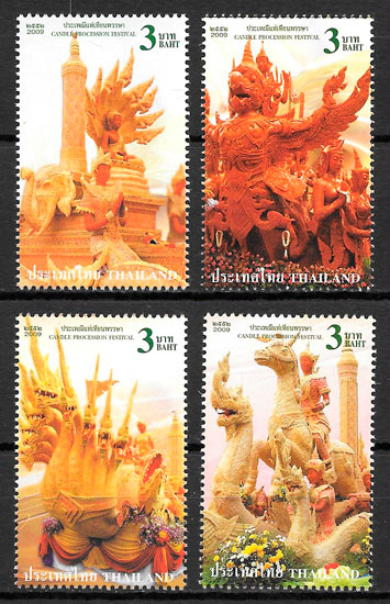 filatelia arte Tailandia 2009