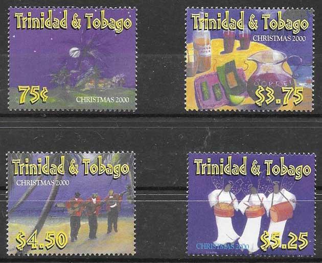 sellos navidad Trinidad y Tobago 2000