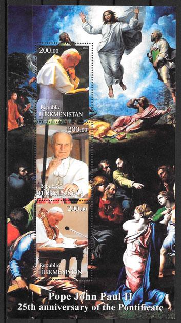 filatelia coleccion personalidad Turmenistan 1998
