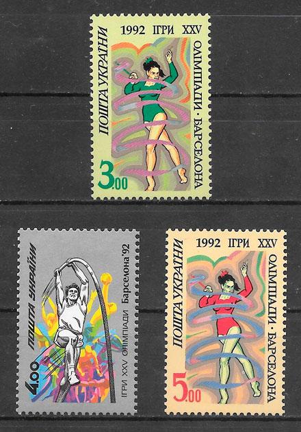 sellos deporte Ucrania 1992