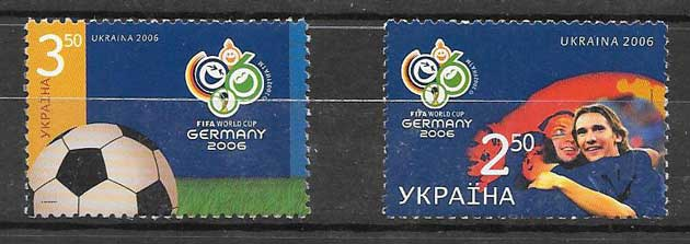 Filatelia sellos fútbol ucrania 2006
