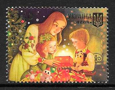 sellos navidad Ucrania 2015