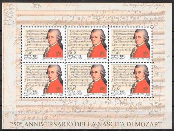 sellos filatelia personalidades Vaticano 2006
