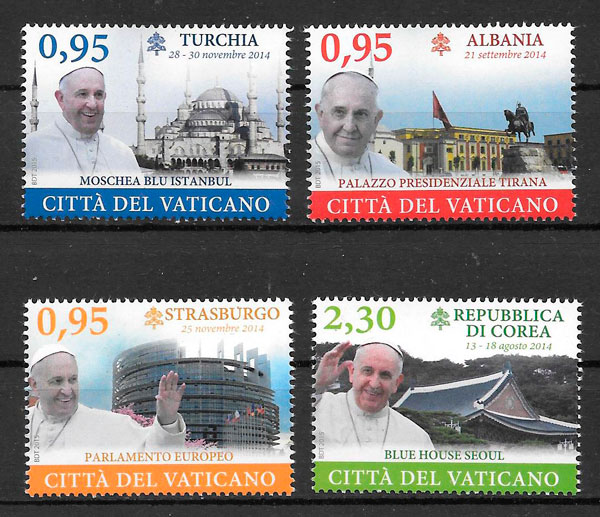 filatelia personalidad Vaticano 2015