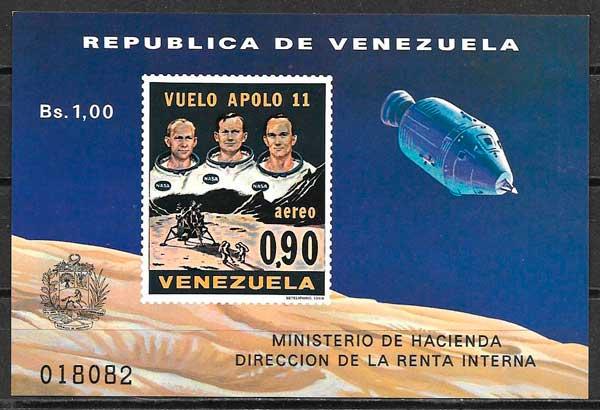 filatelia espacio Venezuela 1969