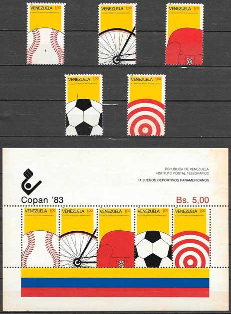 sellos deporte Venezuela 1983