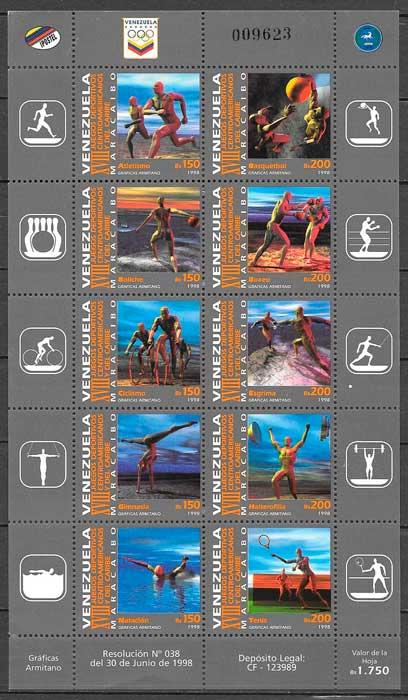 sellos filatelia deporte 1998