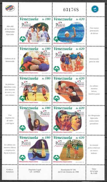 filatelia deporte Venezuela 1998