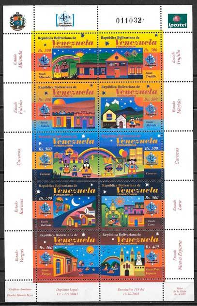 filatelia arquitectura Venezuela 2004