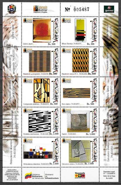 sellos filatelia arte Venezuela 2006
