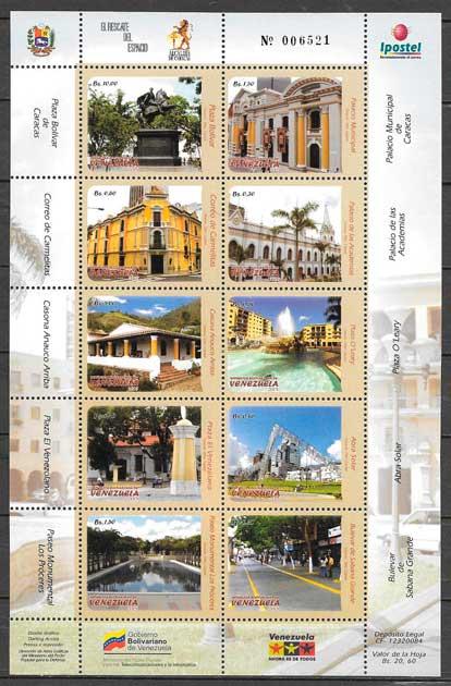 filatelia arquitectura venezuela 2008