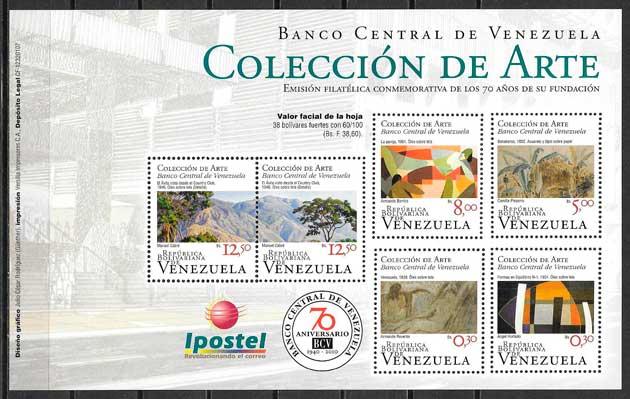 sellos filatelia arte venezuela 2010