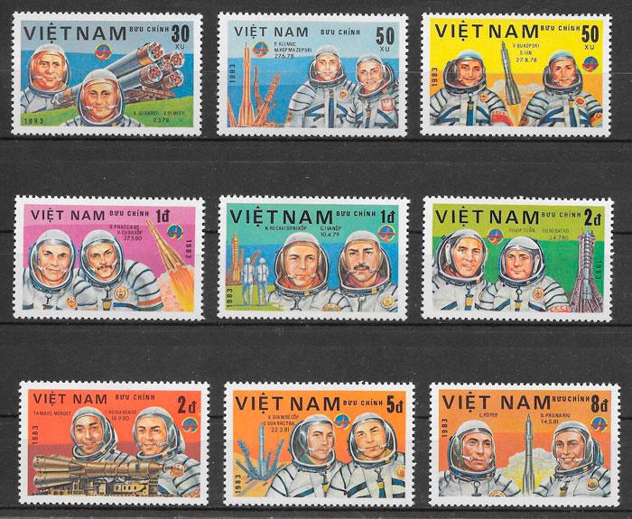 colección sellos espacio Viet Nam 1983