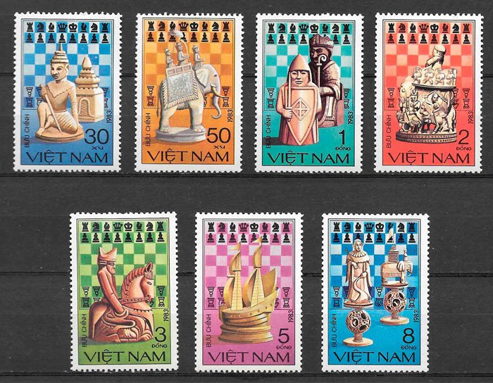 colección sellos deporte Viet Nam 1983