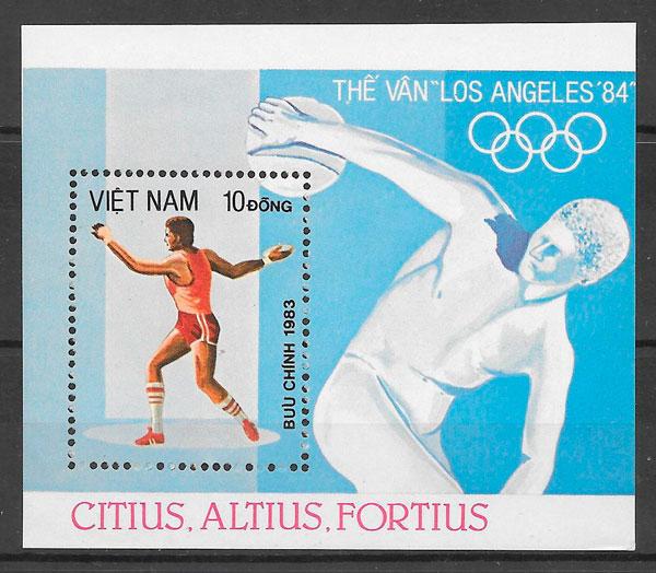 sellos deporte Viet Nam 1983