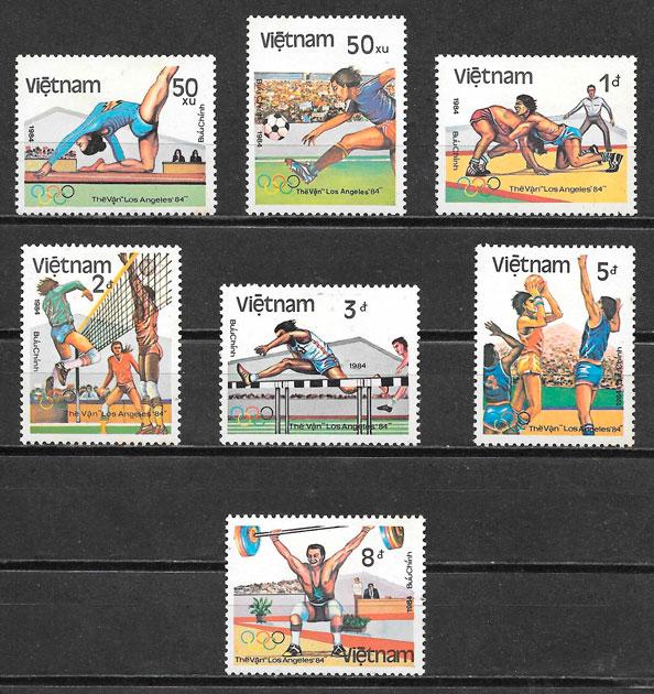 sellos deporte Viet Nam 1984