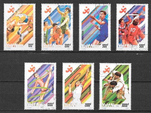 sellos deporte Viet Nam 1990