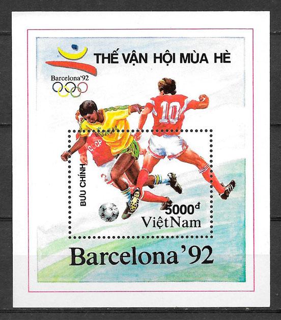 FILATELIA deporte Viet Nam 1991