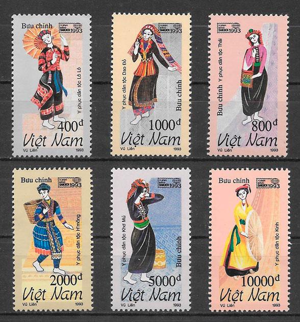 sellos arte Viet Nam 1993