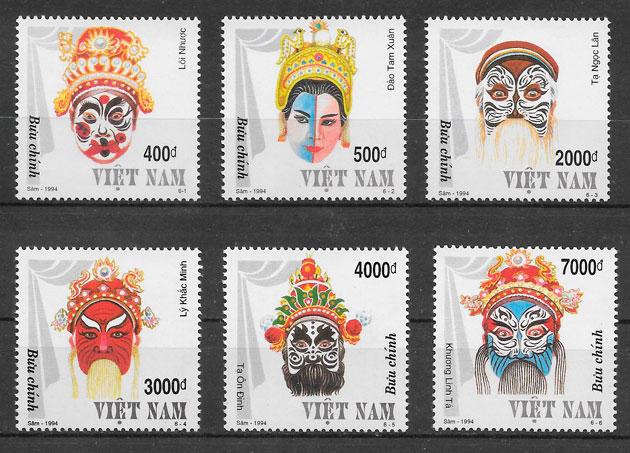 sellos arte Viet Nam 1994
