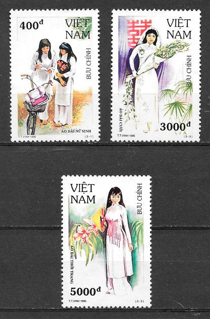colección sellos arte Viet Nam 1995