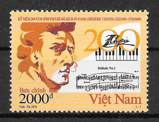 sellos arte Viet Nam 2009
