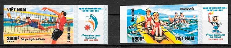 sellos filatelia deporte Viet Nam