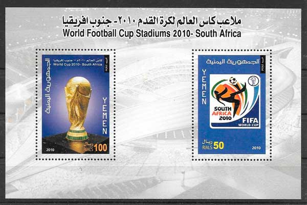 sellos filatelia deporte Yemen 2010