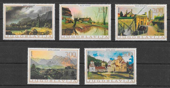 sellos arte Yugoslavia 1968