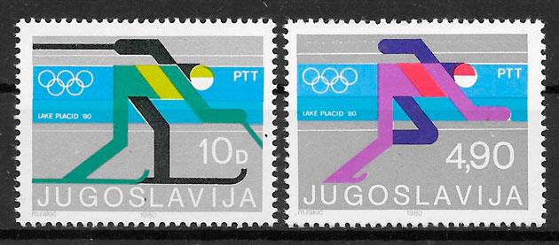 sellos deporte Yugoslavia 1980