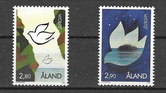 Sellos colección Tema Europa Aland 1995