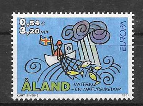 Filatelia Tema Europa Aland 2001