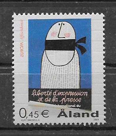 Estampillas Tema Europa Aland 2003