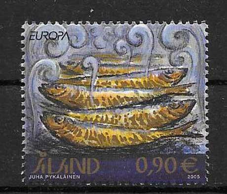 Colección de sellos Tema Europa Aland 2005