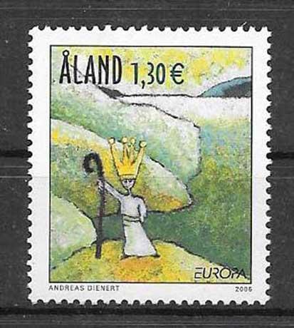 Sellos filatelia tema Europa Aland-2006-01